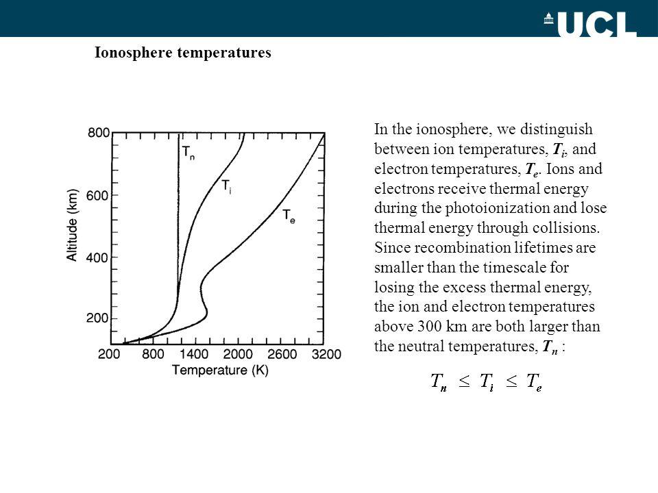 Ionosphere temperatures