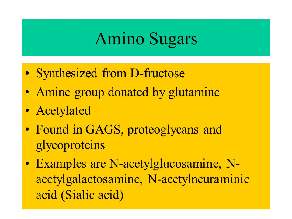 Amino Sugars Synthesized from D-fructose