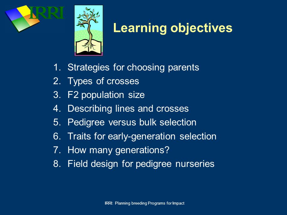 IRRI: Planning breeding Programs for Impact