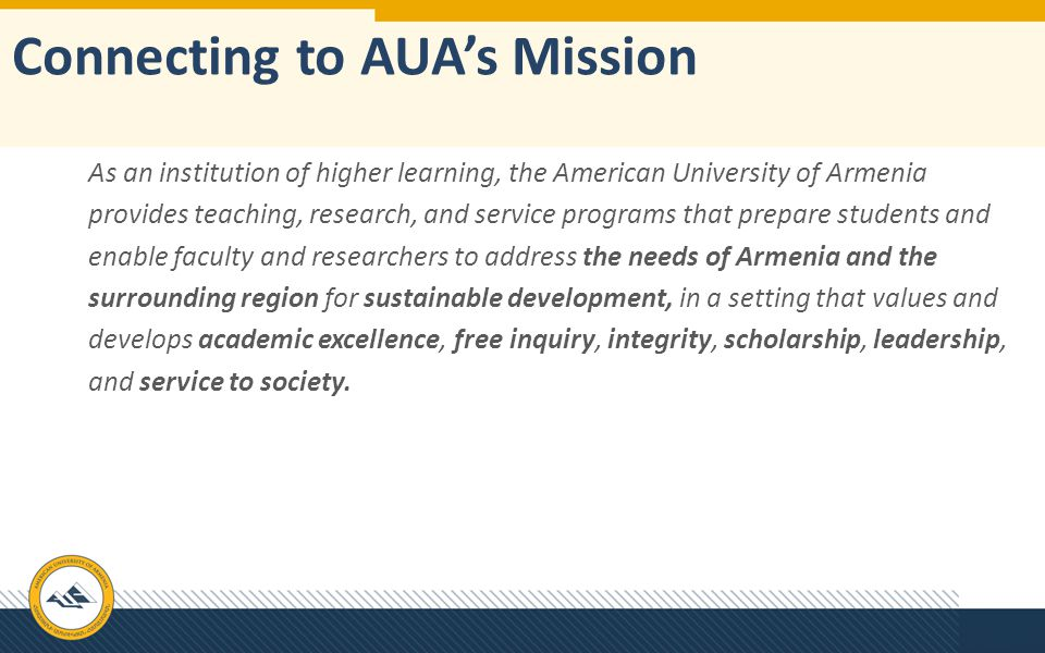 Connecting to AUA's Mission