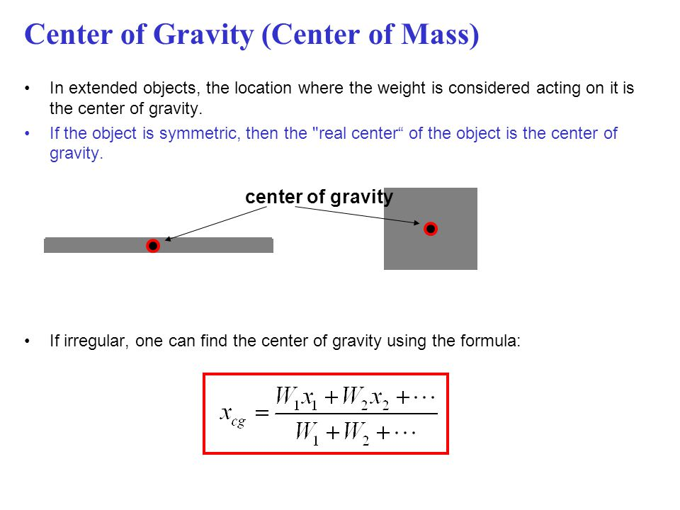 Center of Gravity (Center of Mass)