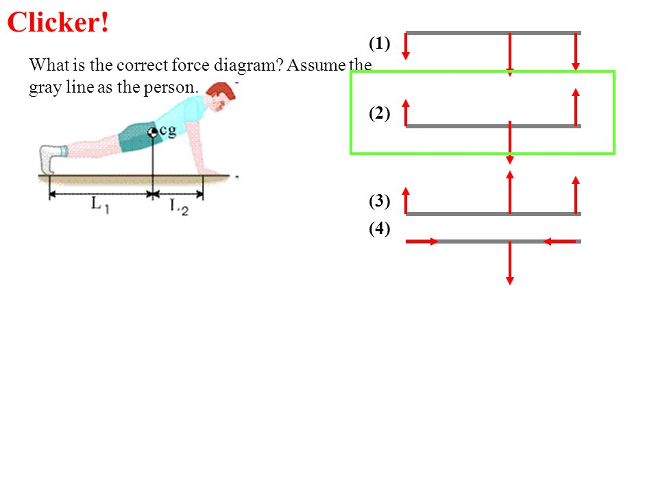 Clicker! (1) What is the correct force diagram Assume the