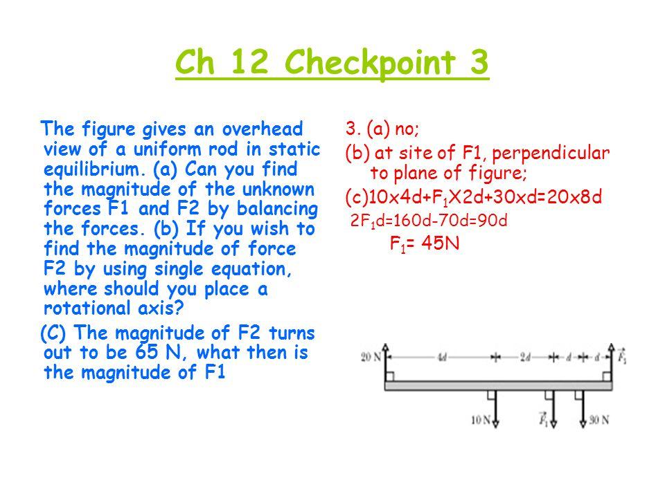 Ch 12 Checkpoint 3