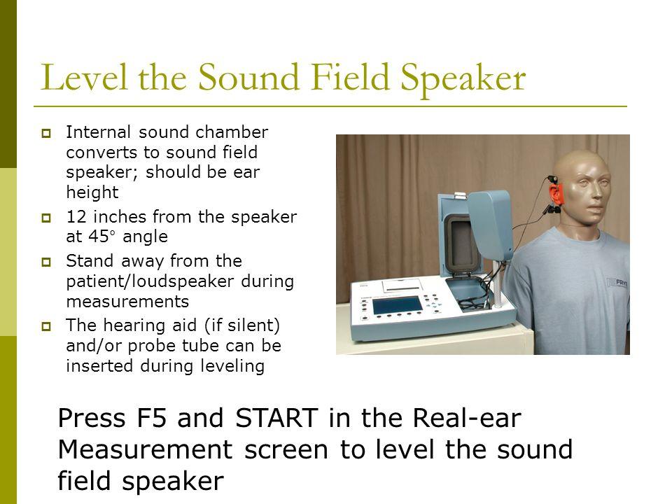 Level the Sound Field Speaker