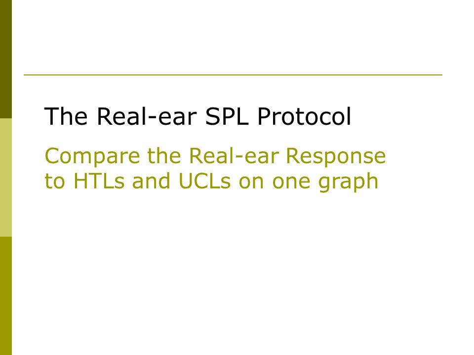 The Real-ear SPL Protocol