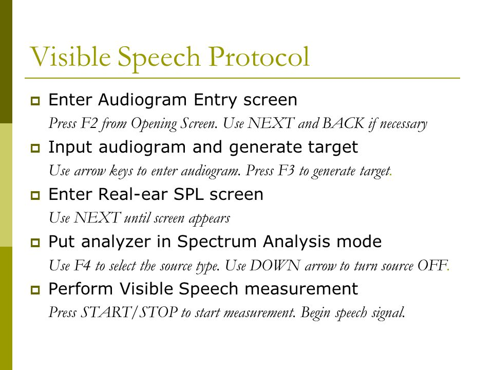 Visible Speech Protocol