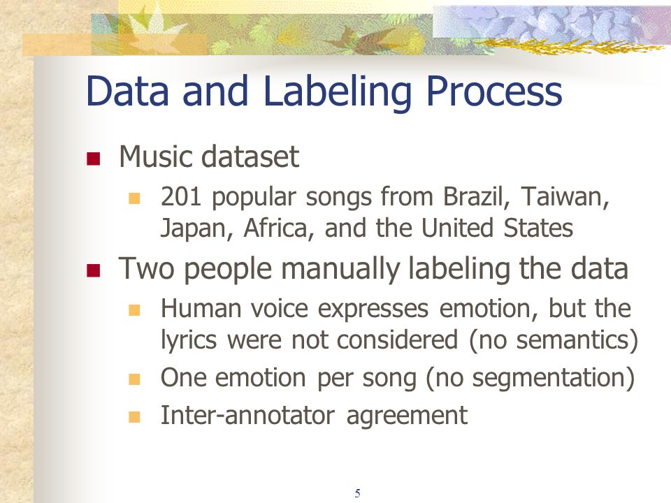 Data and Labeling Process