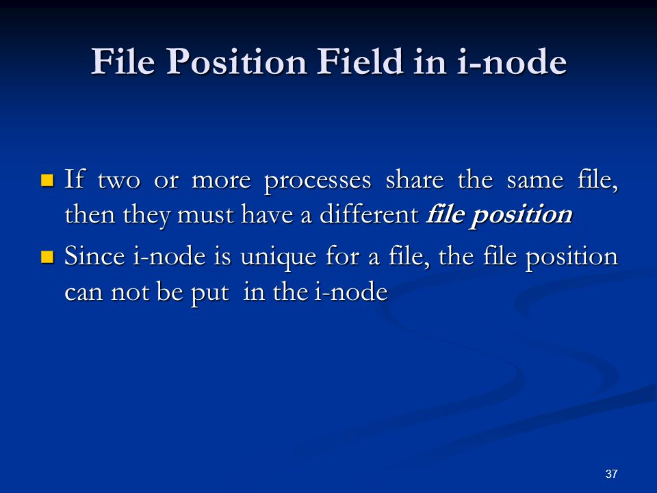 File Position Field in i-node
