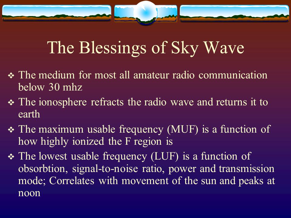 The Blessings of Sky Wave