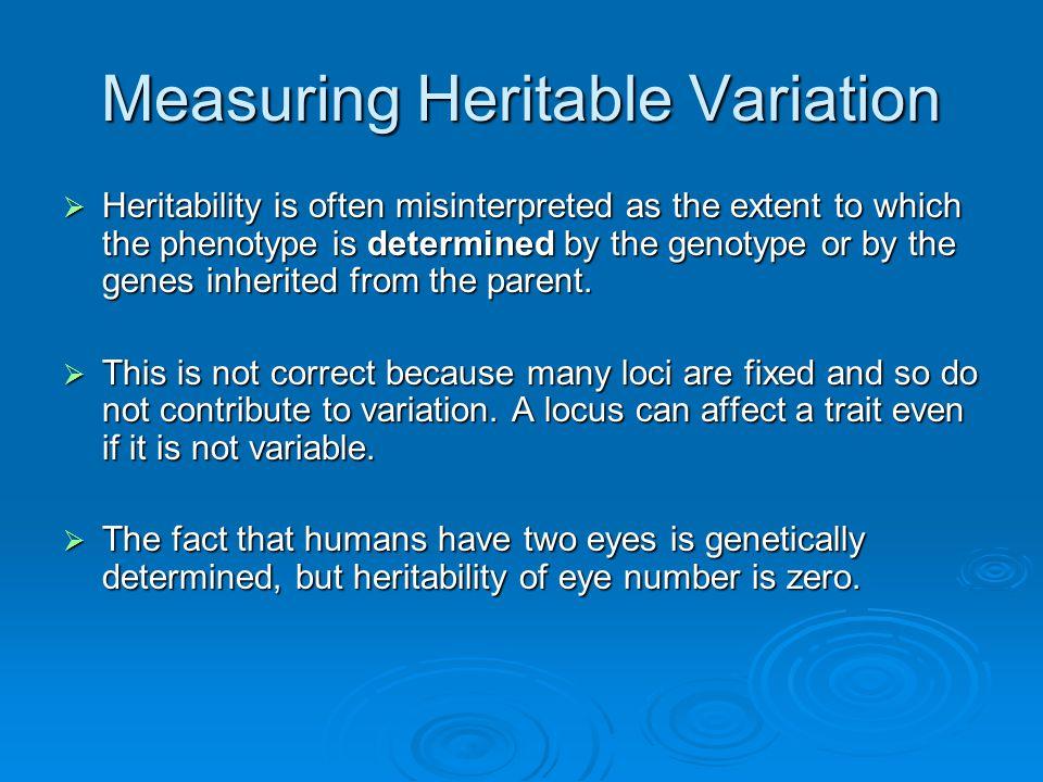 Measuring Heritable Variation
