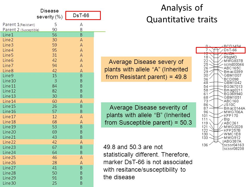 Analysis of Quantitative traits