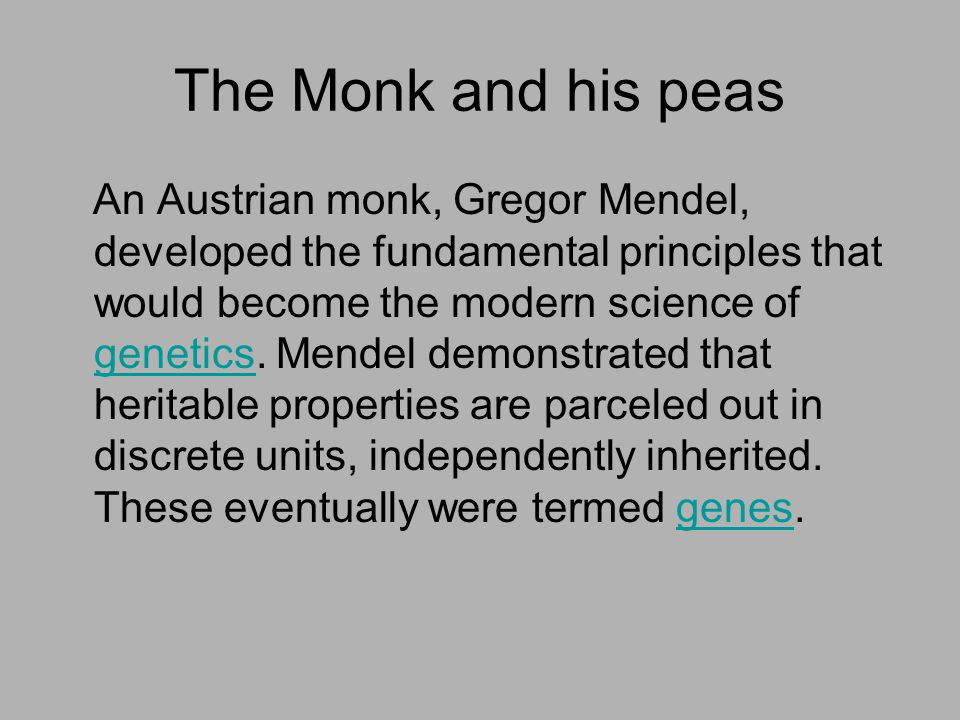 The Monk and his peas