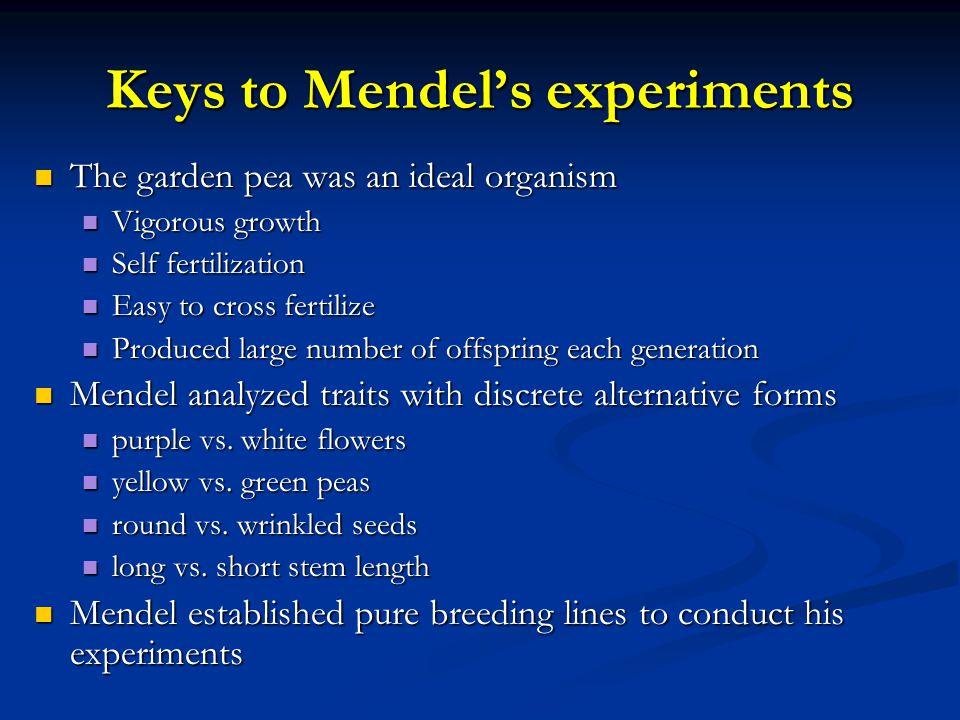 Keys to Mendel's experiments
