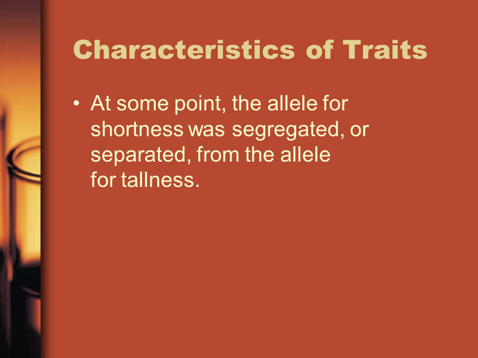 Characteristics of Traits