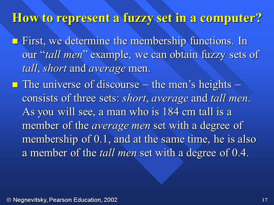 How to represent a fuzzy set in a computer