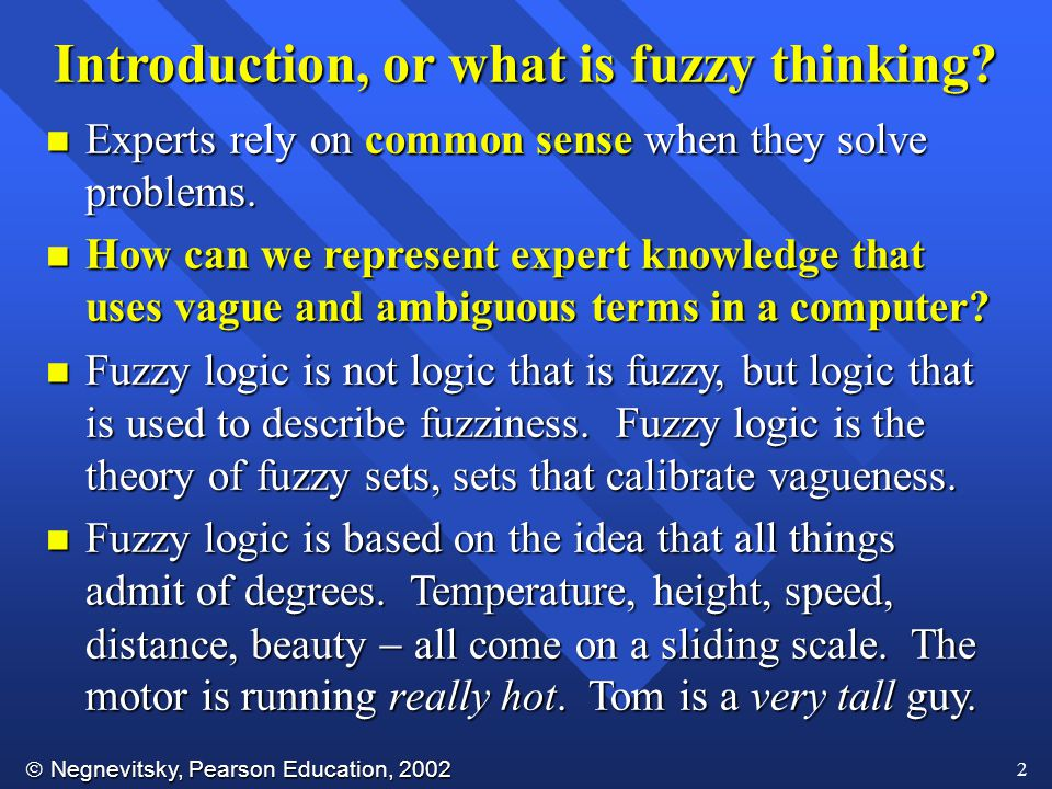 Introduction, or what is fuzzy thinking