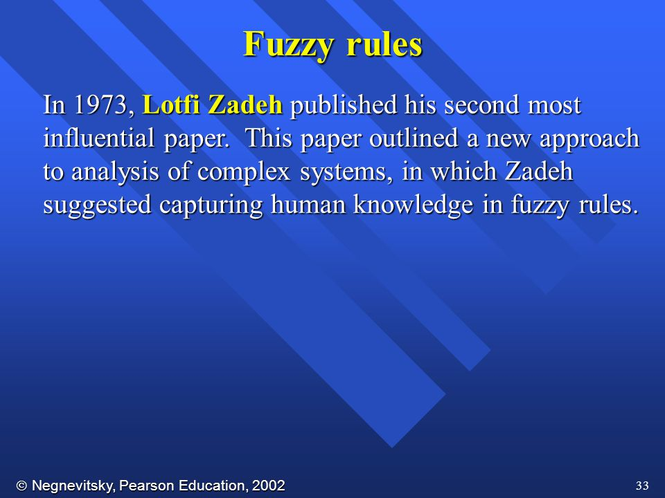 Fuzzy rules