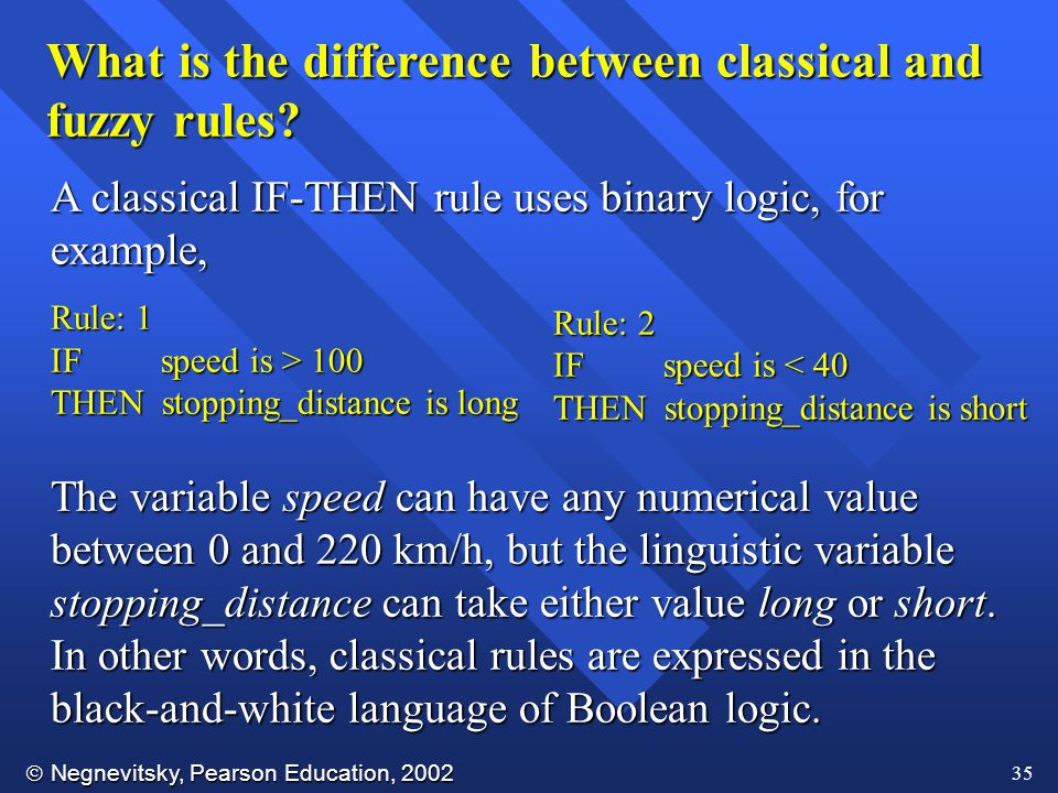What is the difference between classical and fuzzy rules