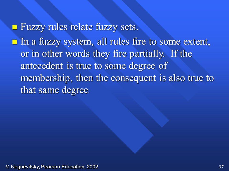Fuzzy rules relate fuzzy sets.