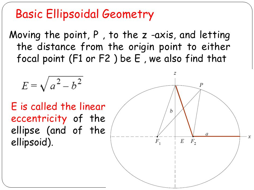 Basic Ellipsoidal Geometry