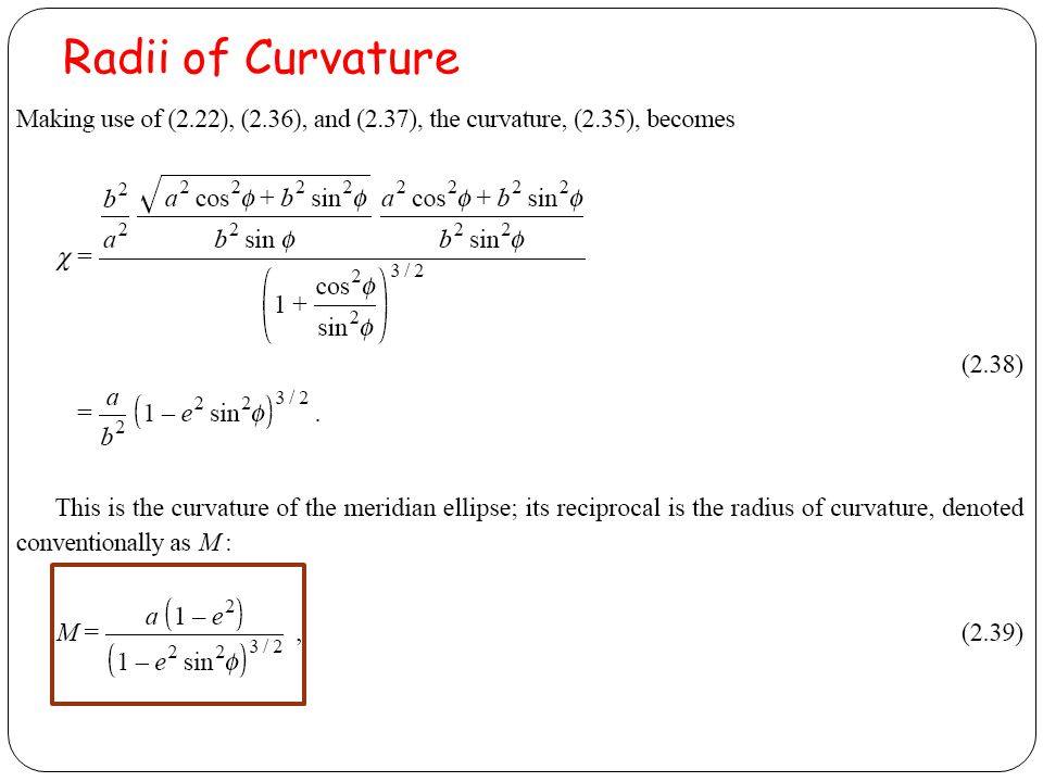 Radii of Curvature