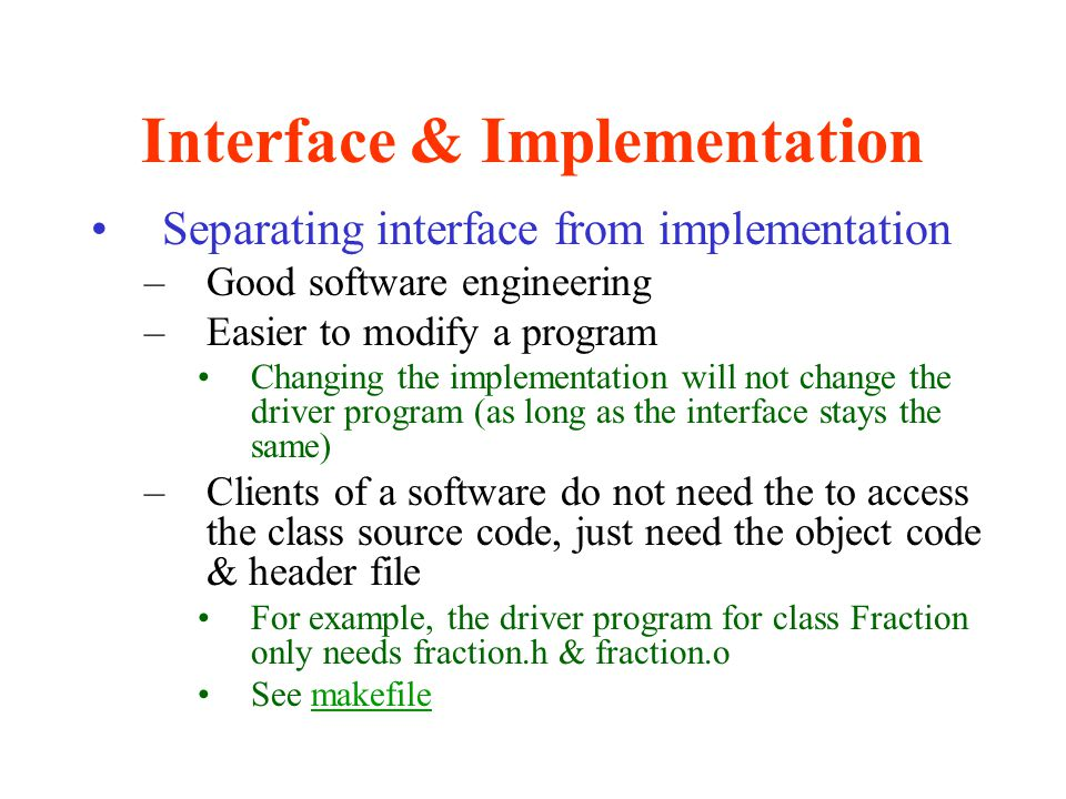 Interface & Implementation
