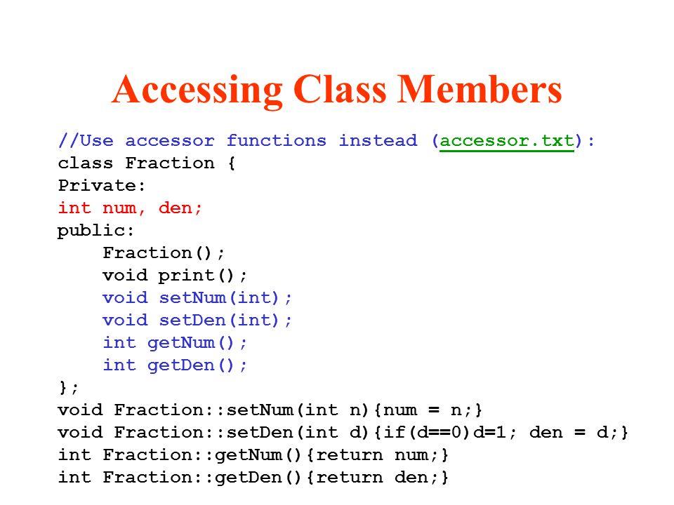 Accessing Class Members