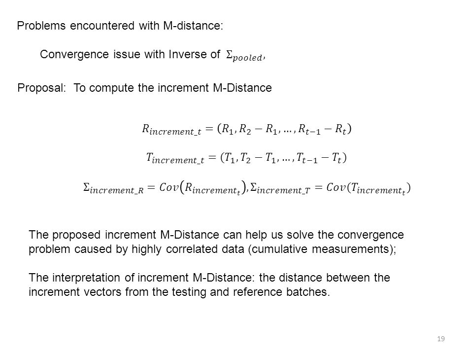 Problems encountered with M-distance:
