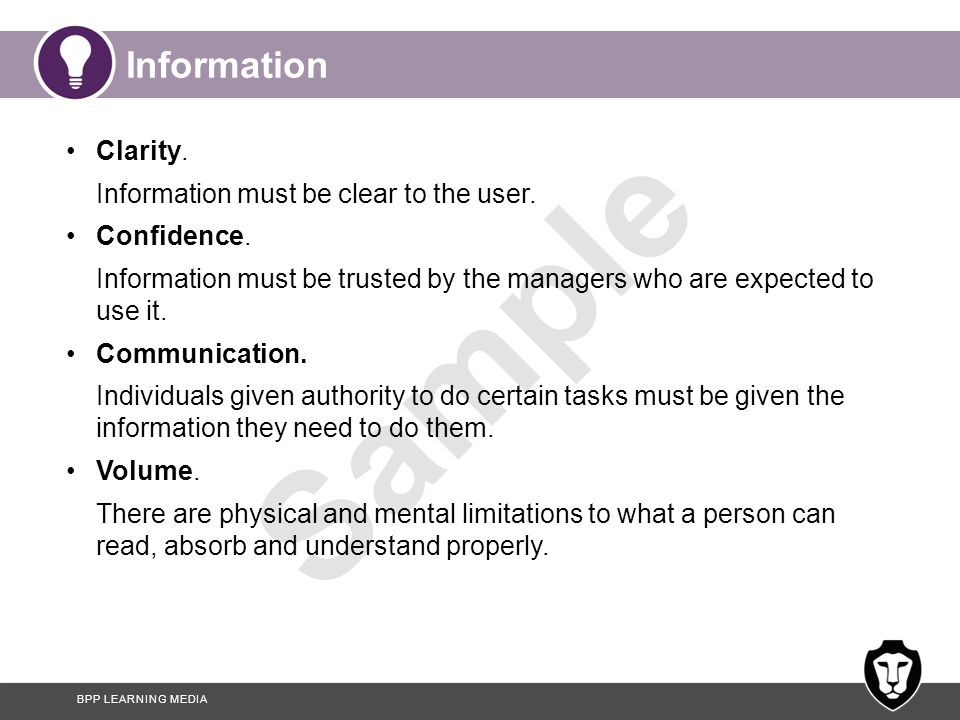 Information Clarity. Information must be clear to the user.