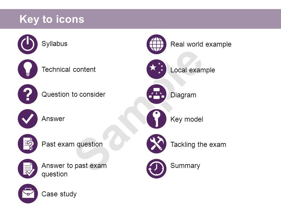 Key to icons