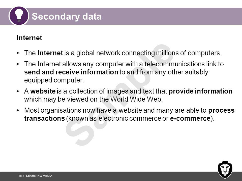 Secondary data Internet