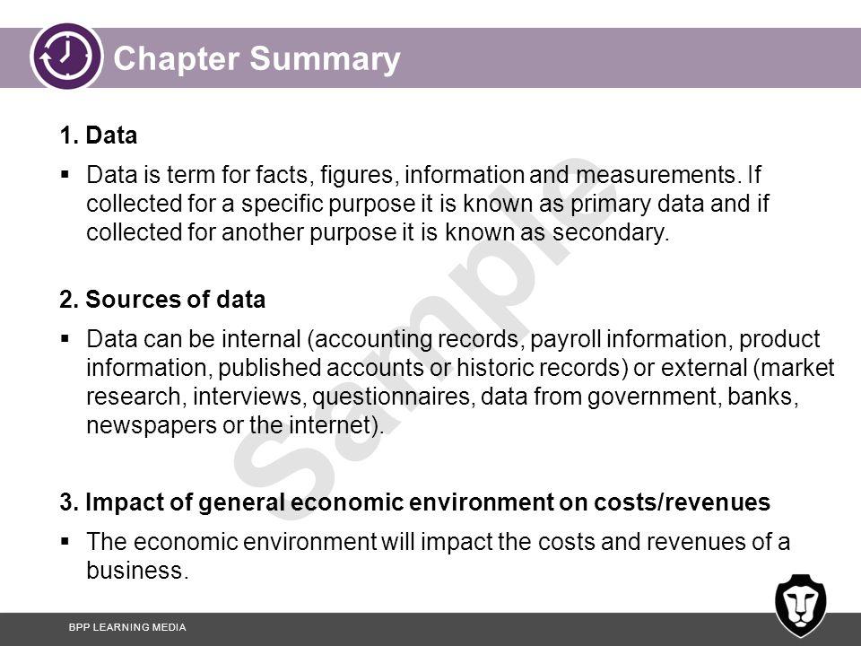 Chapter Summary 1. Data.