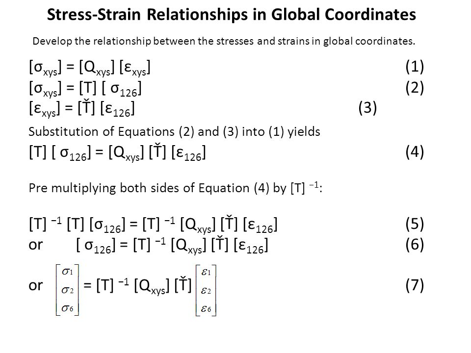 Stress-Strain Relationships in Global Coordinates