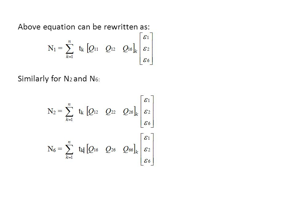 Above equation can be rewritten as: Similarly for N2 and N6: