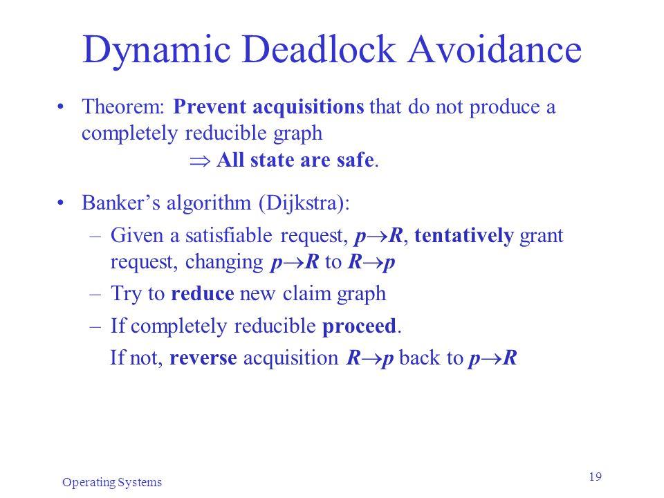 Dynamic Deadlock Avoidance