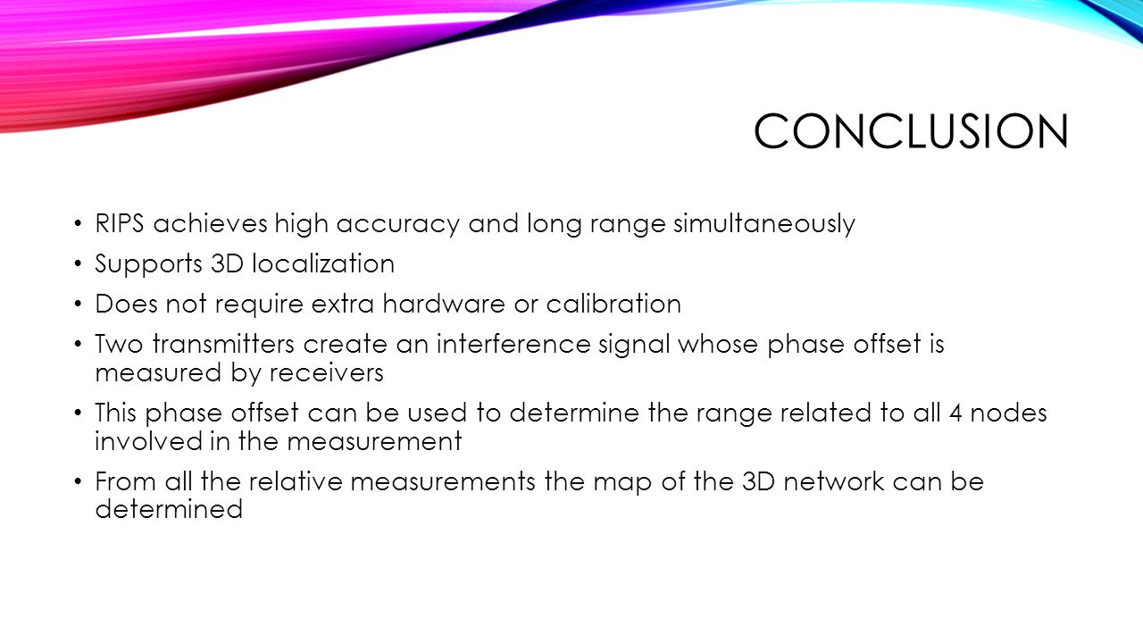 Conclusion RIPS achieves high accuracy and long range simultaneously