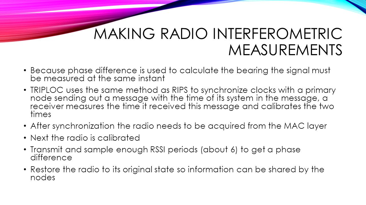 Making Radio Interferometric Measurements