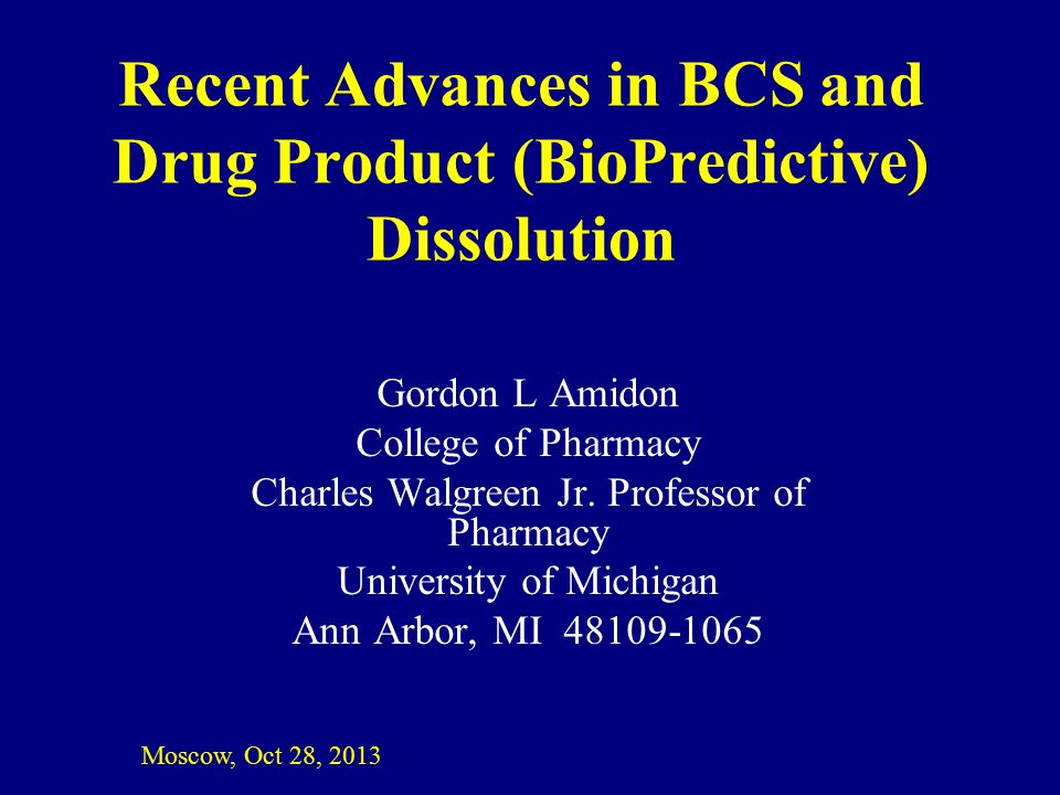 Recent Advances in BCS and Drug Product (BioPredictive) Dissolution