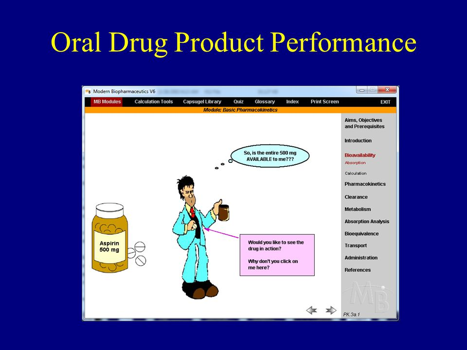 Oral Drug Product Performance