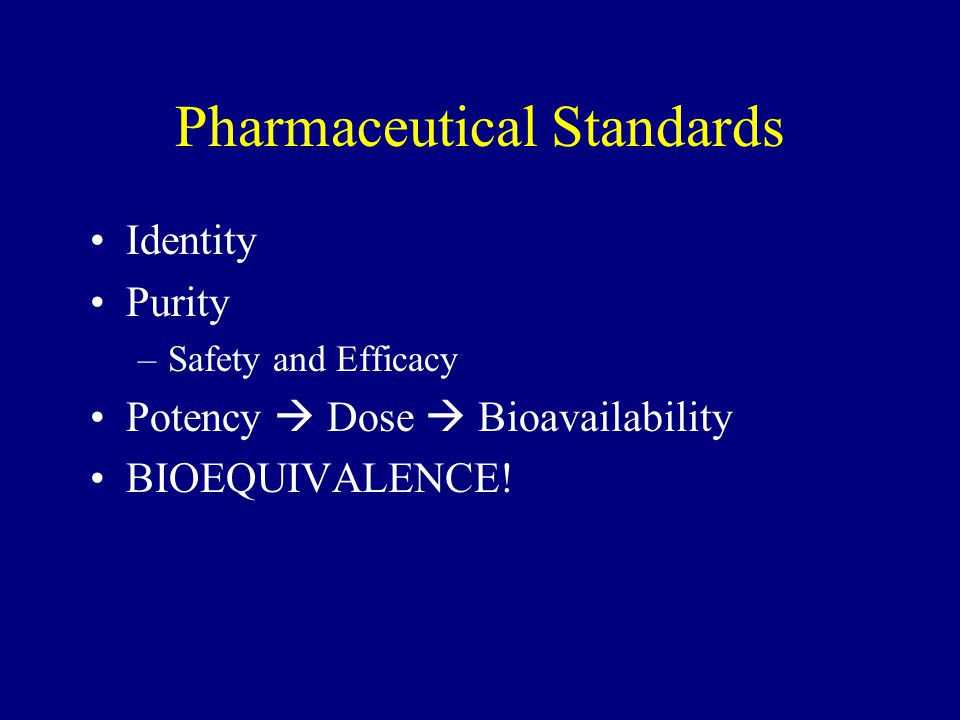 Pharmaceutical Standards