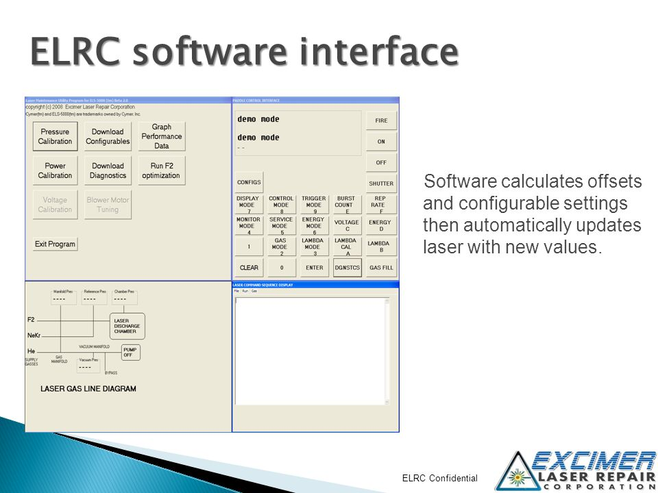 ELRC software interface