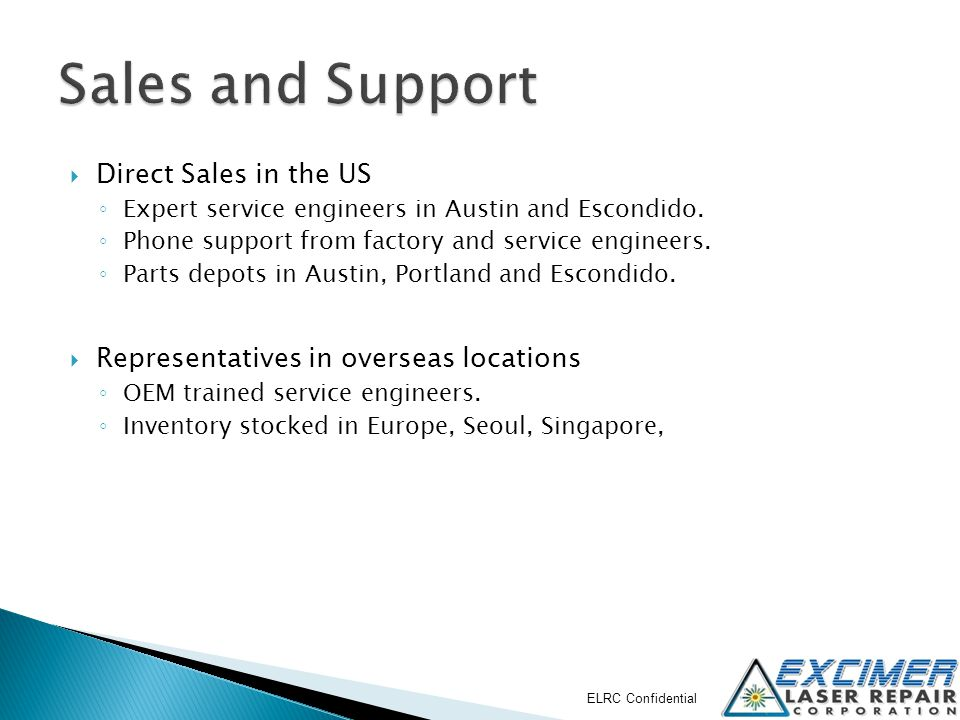 Sales and Support Direct Sales in the US