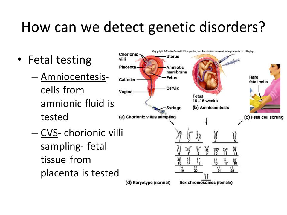 How can we detect genetic disorders