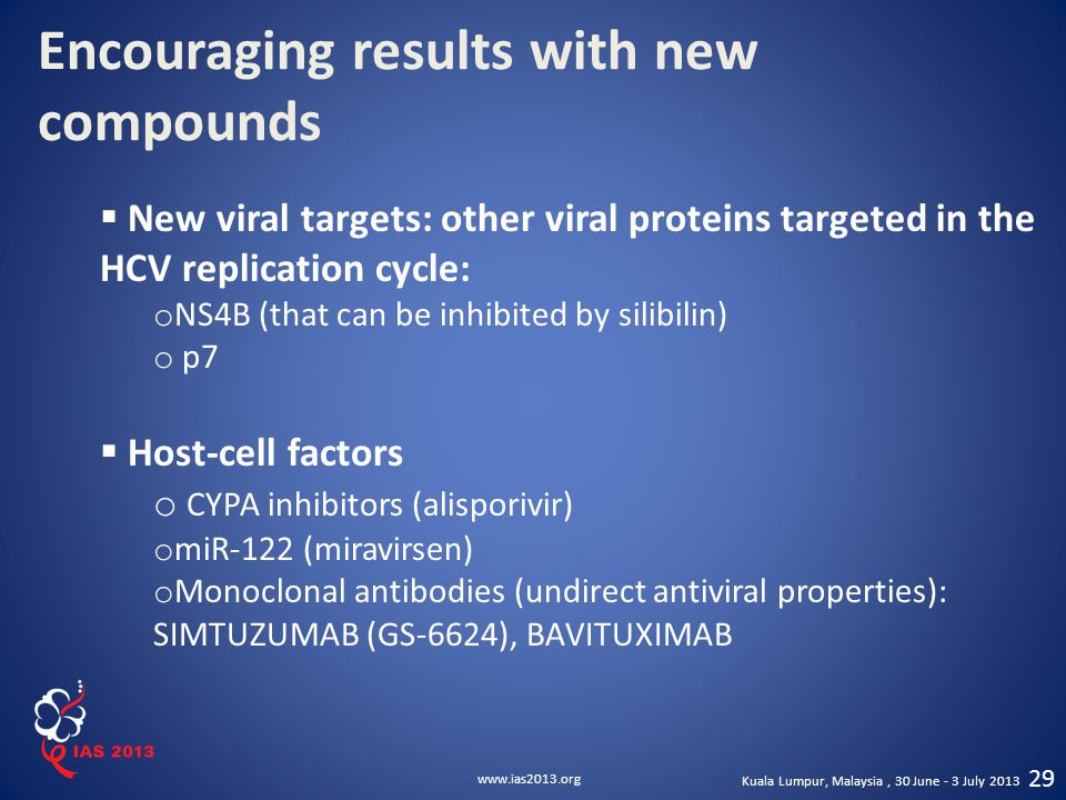 Encouraging results with new compounds