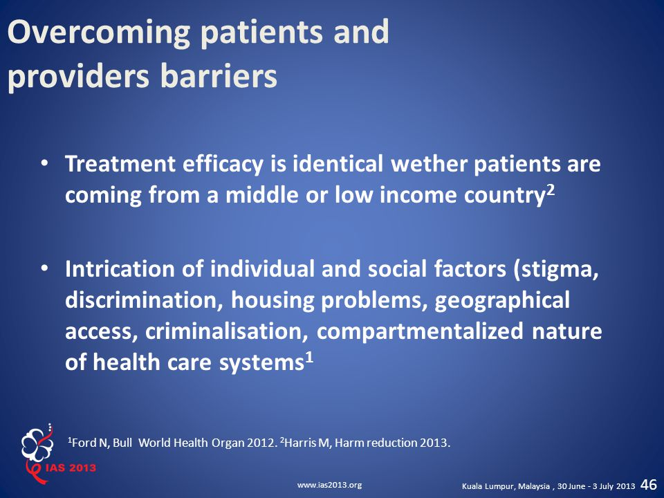 Overcoming patients and providers barriers