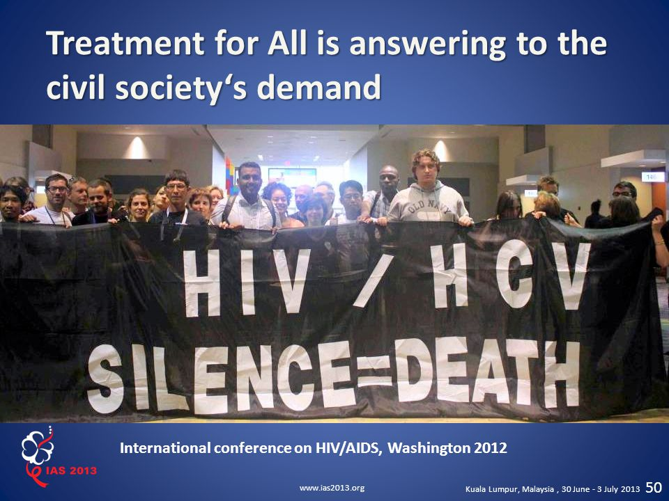 Treatment for All is answering to the civil society's demand