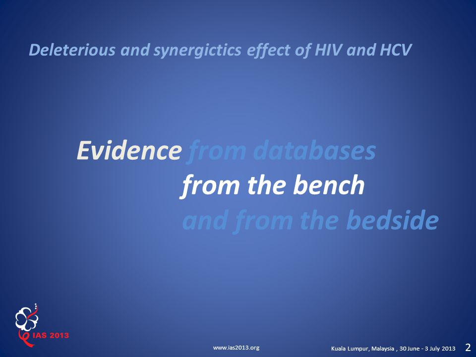 Evidence from databases from the bench and from the bedside