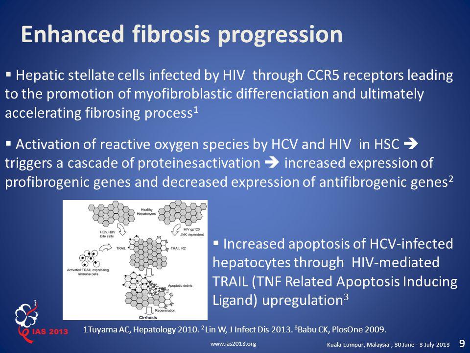 Enhanced fibrosis progression