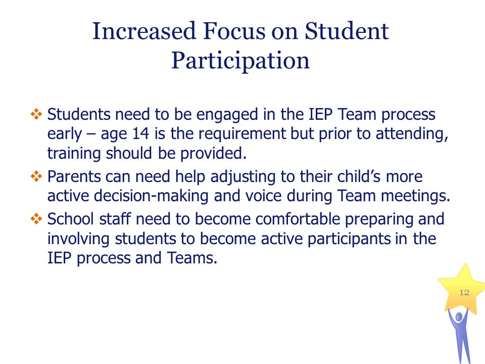 Increased Focus on Student Participation