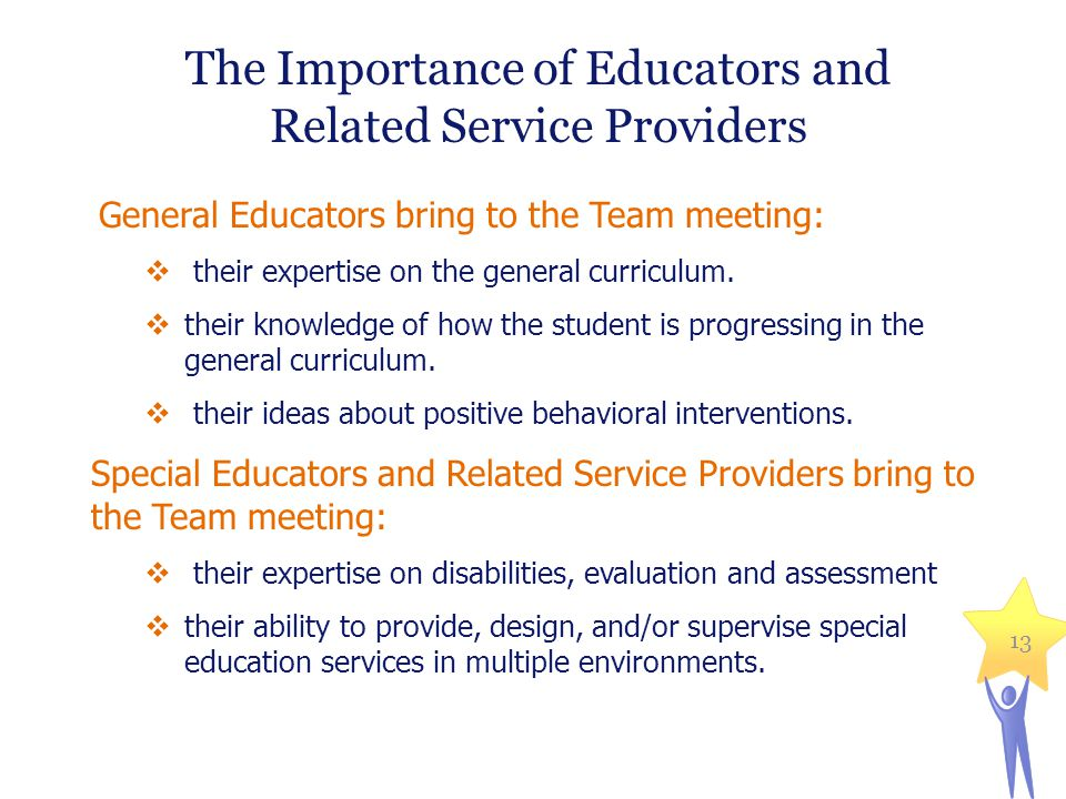 The Importance of Educators and Related Service Providers